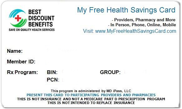 my free health savings card return to top - Best Prescription Discount Card